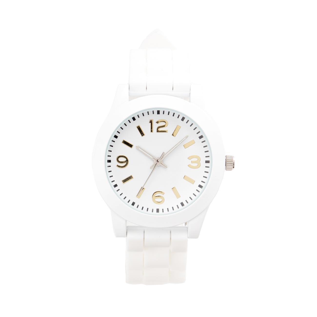 【THE EMPORIUM (ジエンポリアム)】ラバーベルト腕時計レディース 雑貨 腕時計 ホワイト