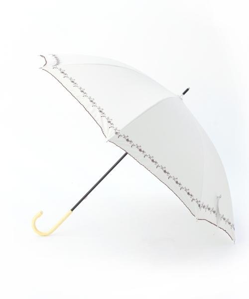 プチフラワー刺しゅう晴雨兼用傘(長傘)