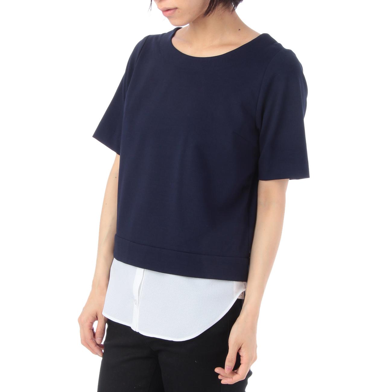【index (インデックス)】シャツ裾ボンチプルオーバーレディース トップス|その他トップス ネイビー