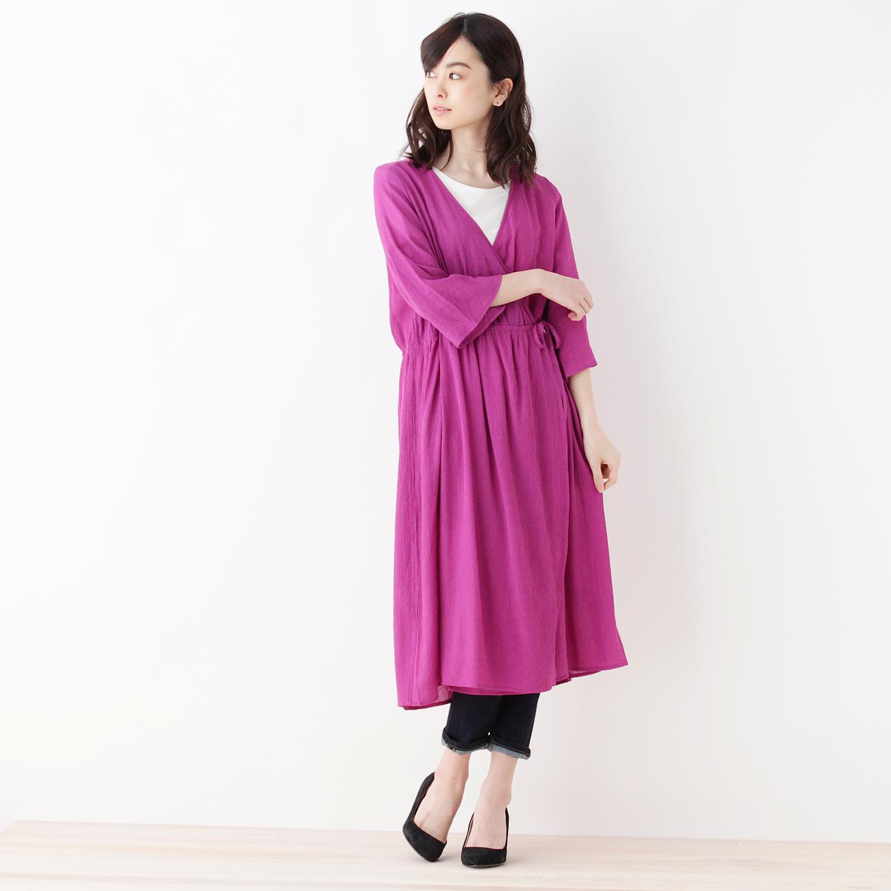 【index (インデックス)】2WAY楊柳ワンピースレディース ワンピース|ワンピース ピンク系