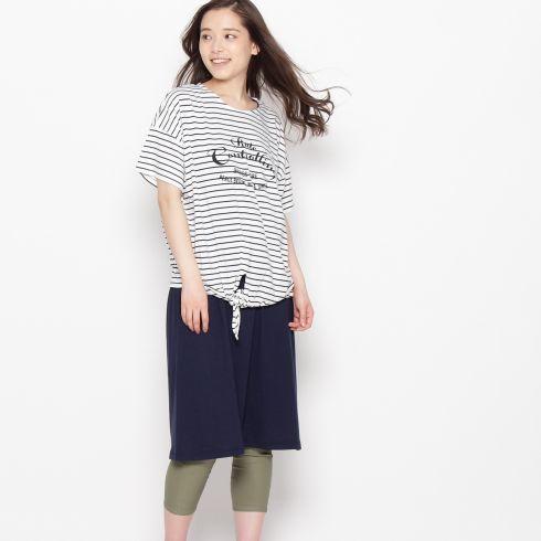【SHOO・LA・RUE (シューラルー)】前結びTシャツ+タンクワンピースセットレディース ワンピース|ワンピース ピンク