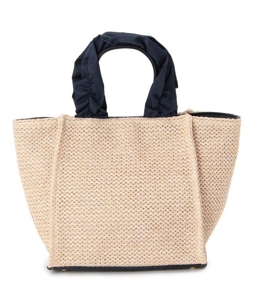 ◆フリルハンドルジュートバッグ