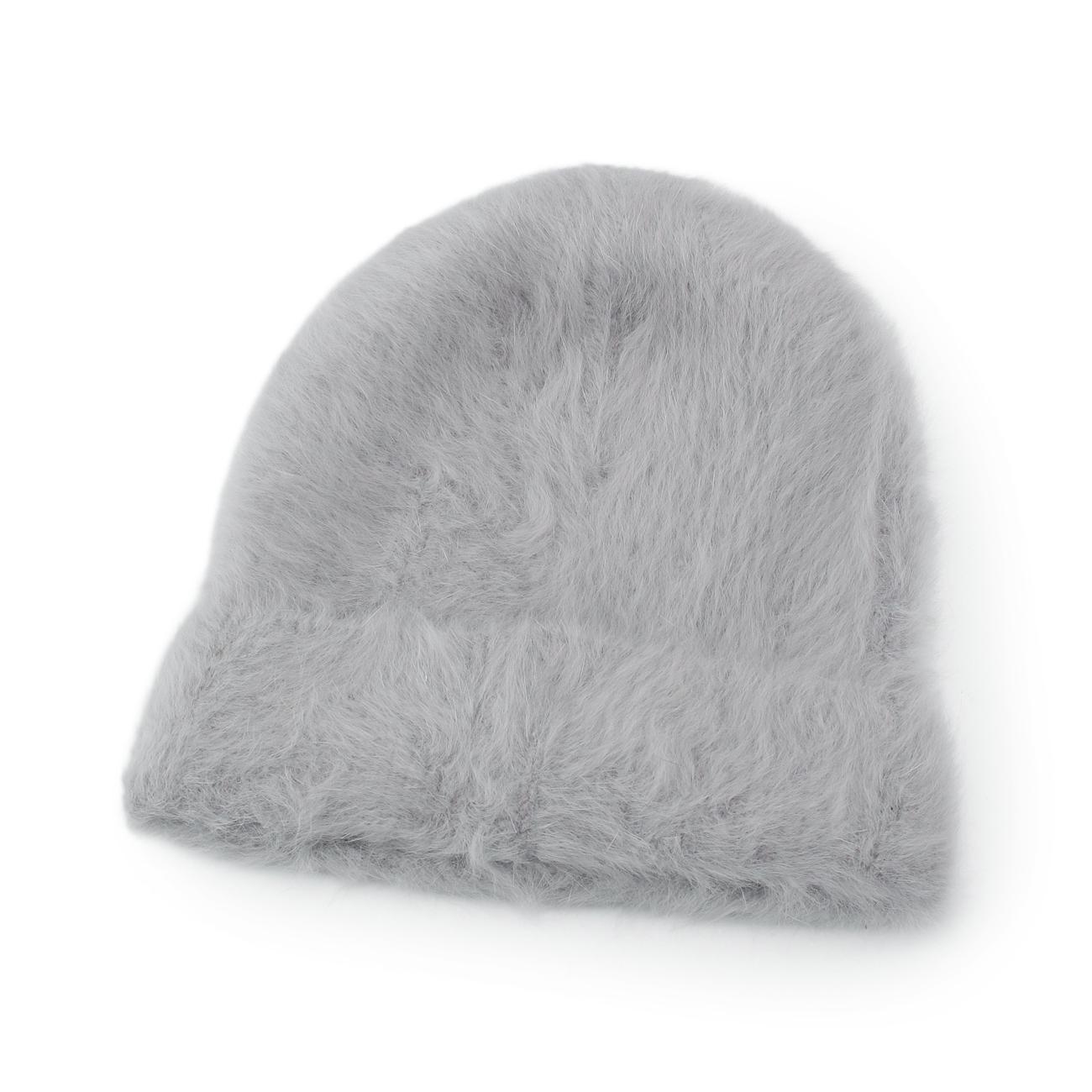 【OPAQUE.CLIP (オペークドットクリップ)】シャギーニットワッチレディース 帽子 ニットキャップ・ビーニー グレー