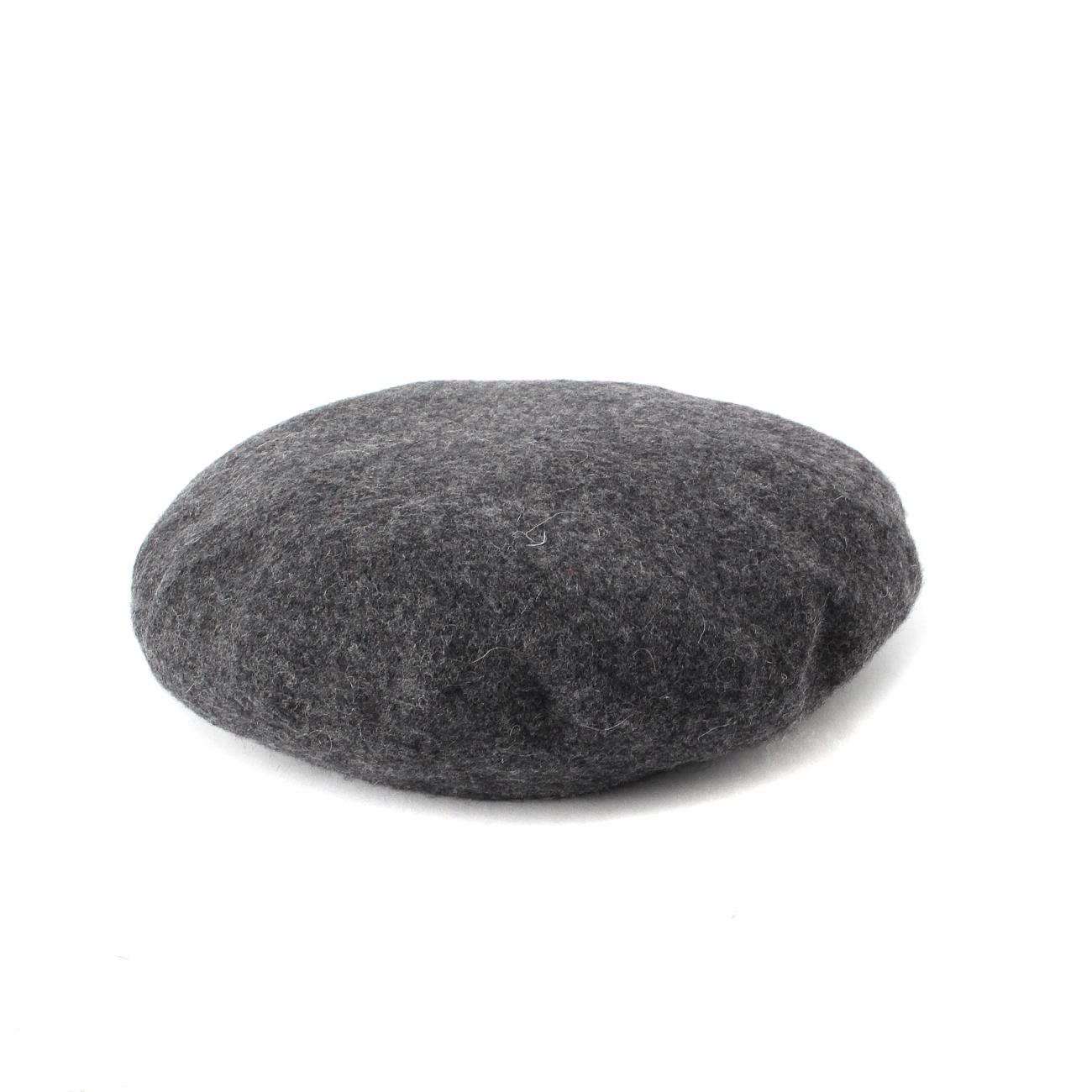 【OPAQUE.CLIP (オペークドットクリップ)】ベーシックベレー帽レディース 帽子 ハンチング・ベレー帽 チャコールグレー