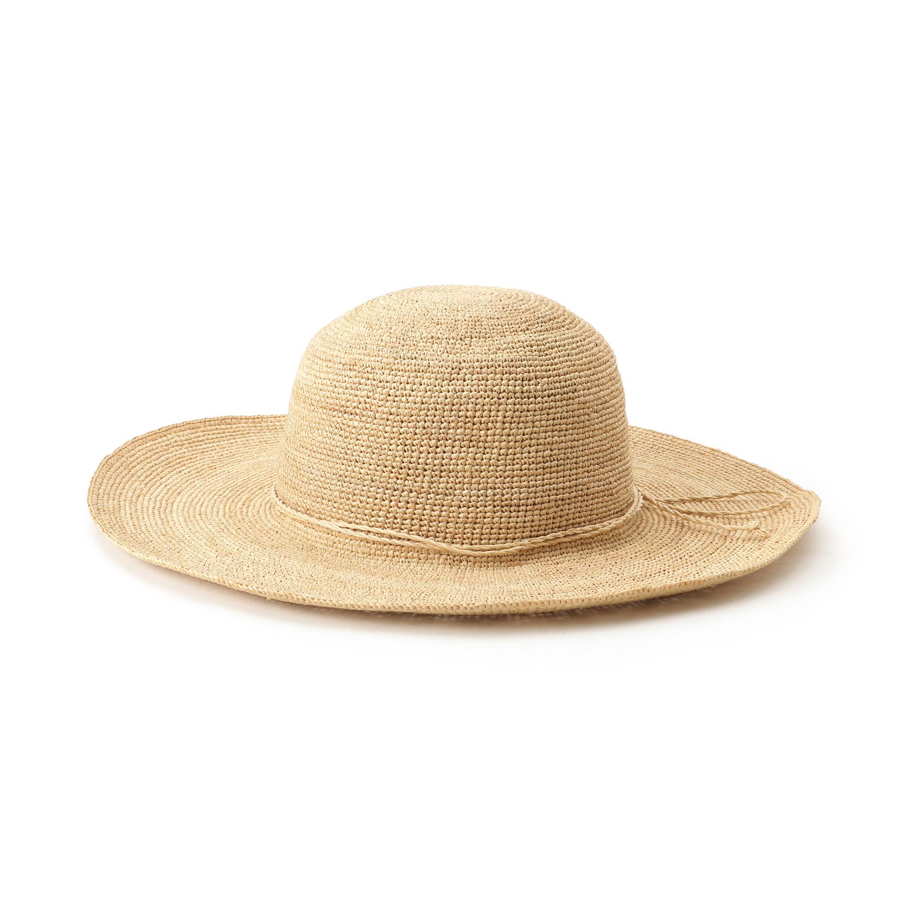 【OPAQUE.CLIP (オペークドットクリップ)】ラフィアキャペリンハットレディース 帽子 ハット ナチュラル