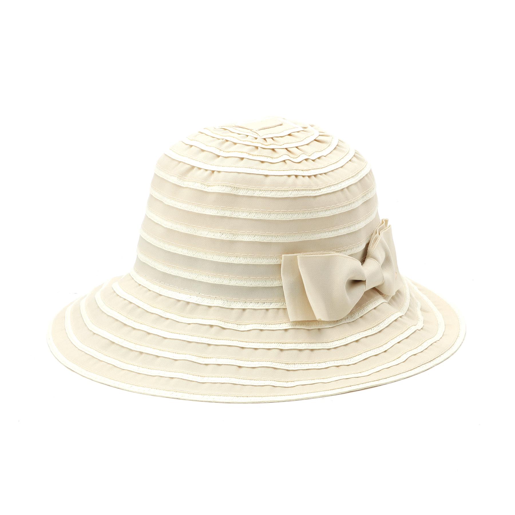 【OPAQUE.CLIP (オペークドットクリップ)】ペーパートリムポケッタブルハットレディース 帽子 ハット オフホワイト