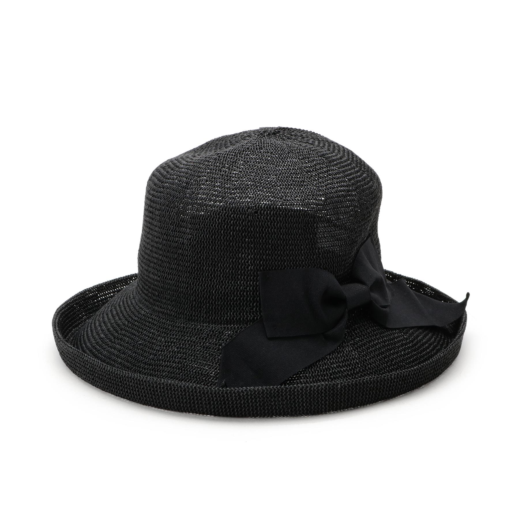 【OPAQUE.CLIP (オペークドットクリップ)】エッジアップリボンハットレディース 帽子 ハット ブラック