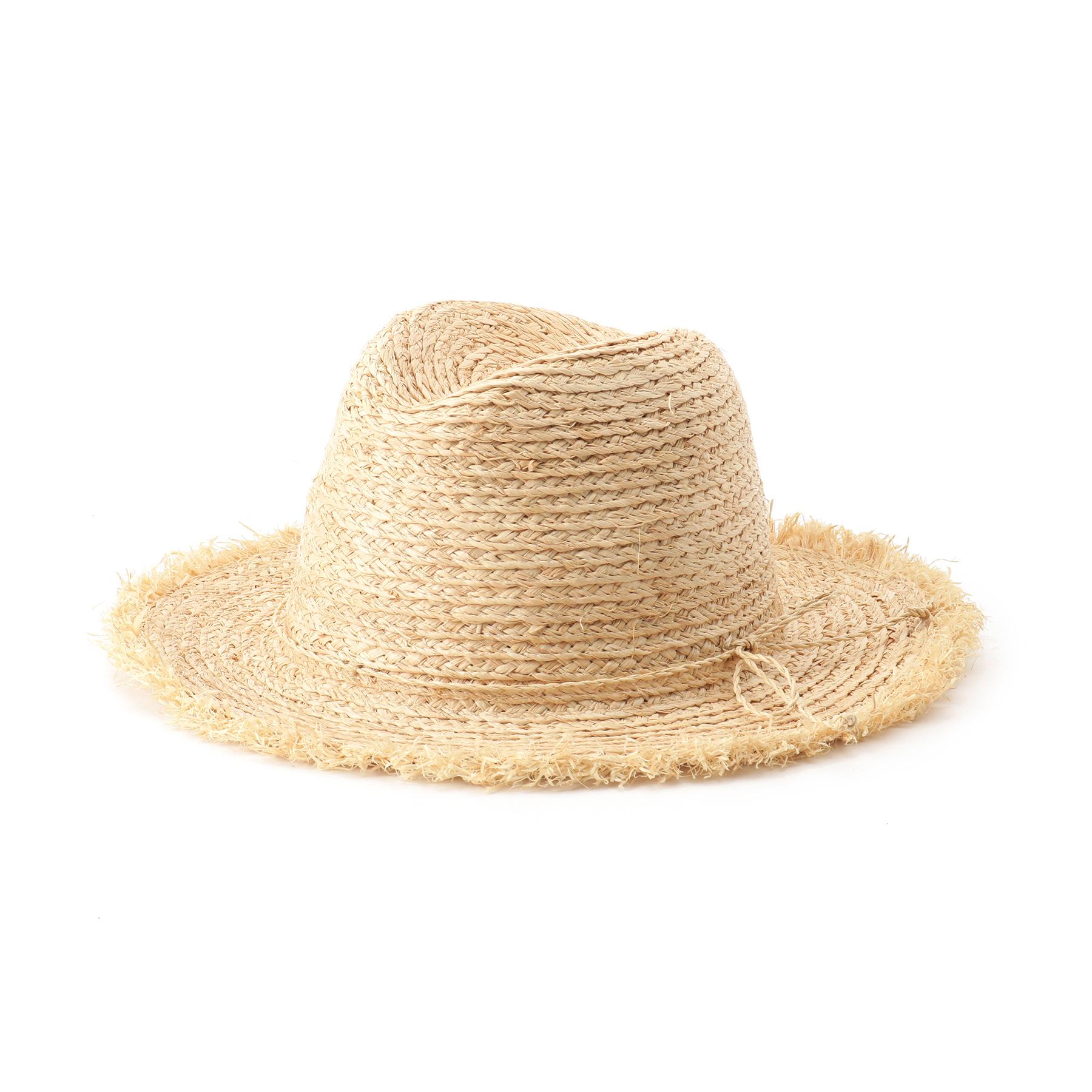 【OPAQUE.CLIP (オペークドットクリップ)】フリンジラフィアハットレディース 帽子 ハット ナチュラル