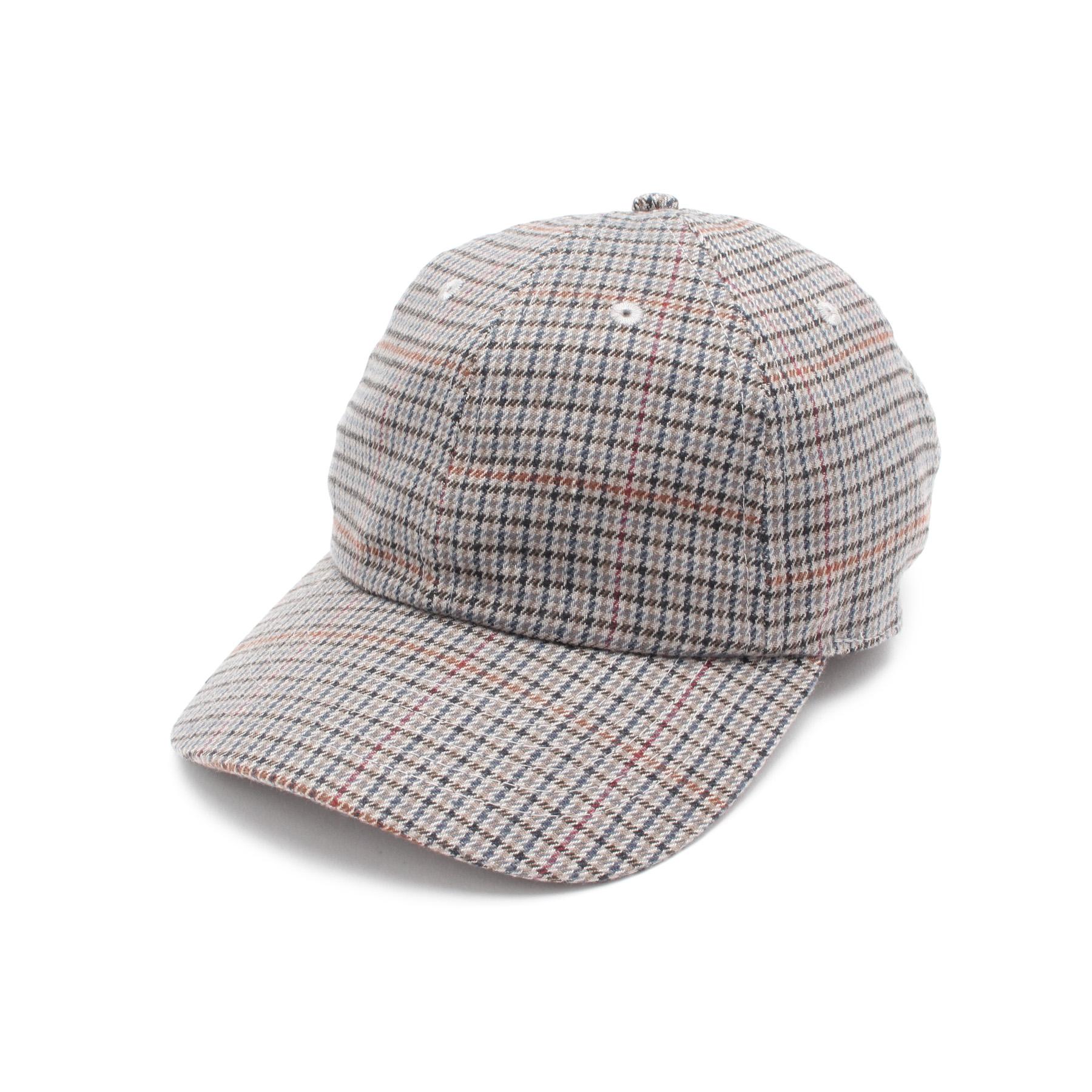 【OPAQUE.CLIP (オペークドットクリップ)】チェックキャップレディース 帽子 キャップ ライトブルー