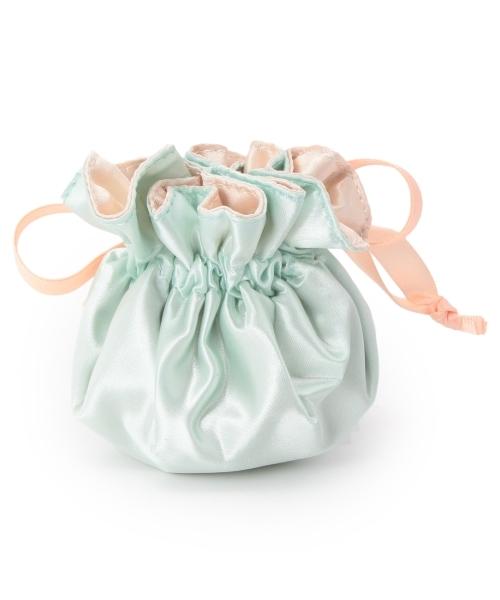 passage mignon(パサージュ ミニョン) 巾着リボンアクセサリーポーチ