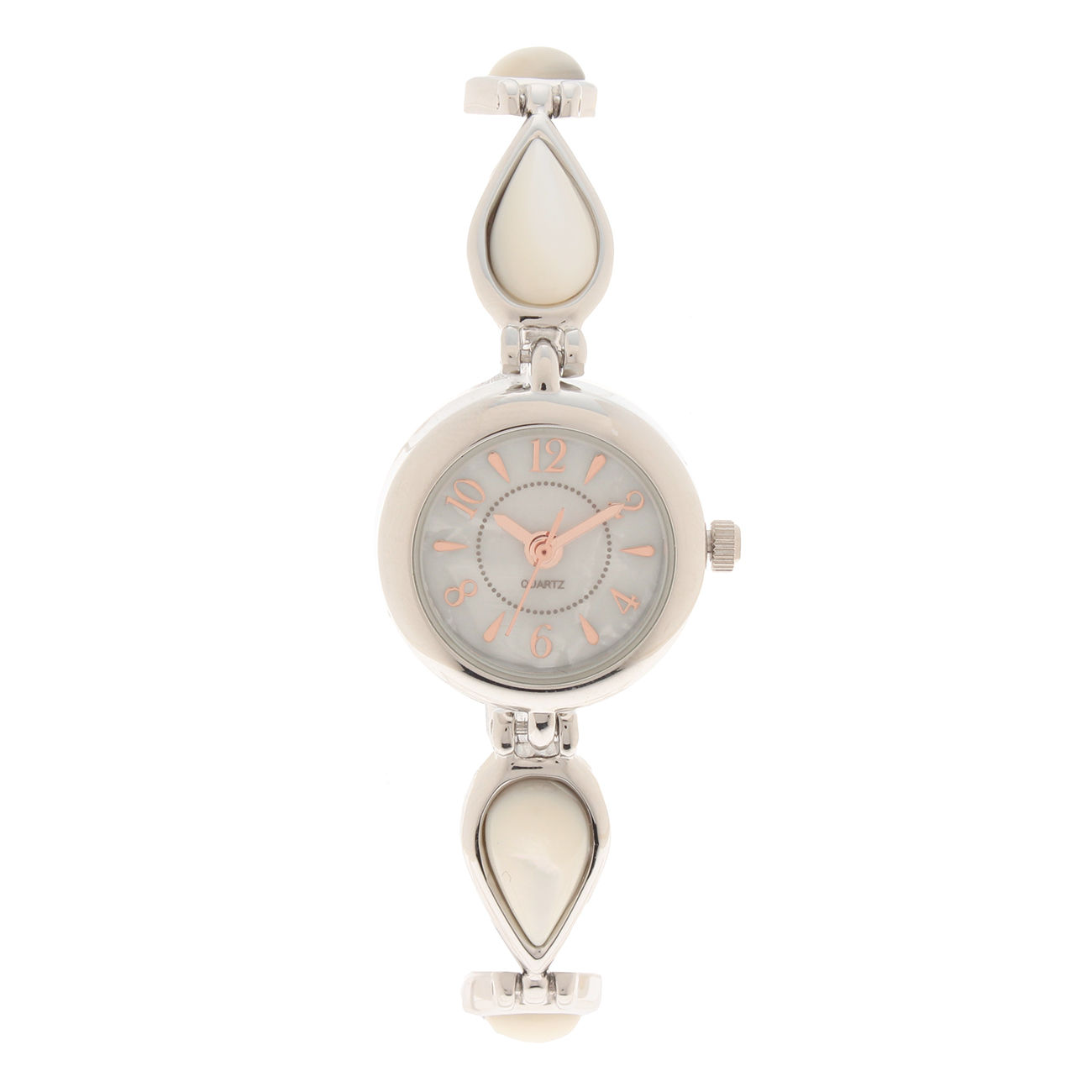 【passage mignon (パサージュ ミニョン)】天然石風ティアドロップベルト腕時計レディース 雑貨 腕時計 ホワイト