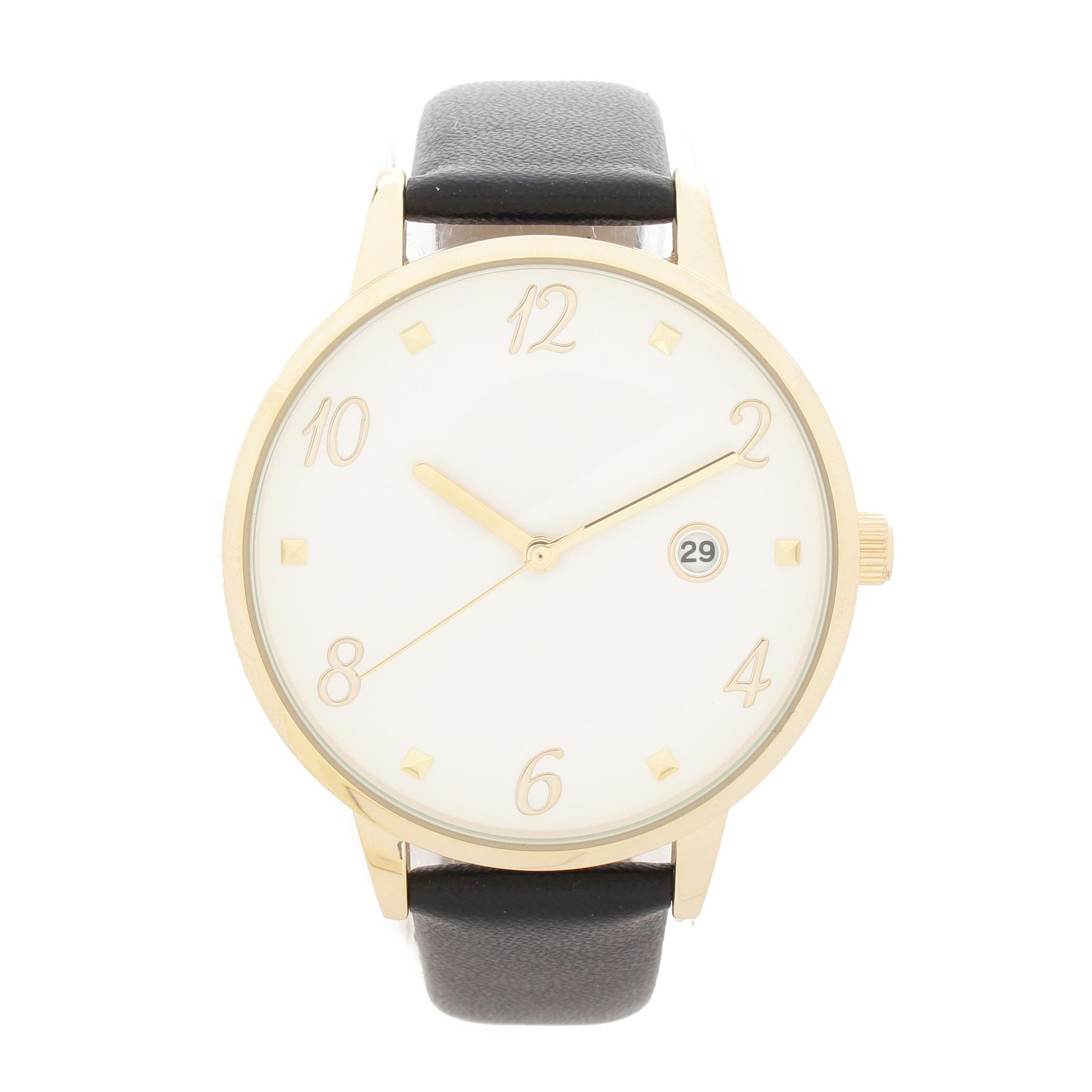 【passage mignon (パサージュ ミニョン)】フェイクレザーベルトゴールドカラーウォッチレディース 雑貨|腕時計 ブラック