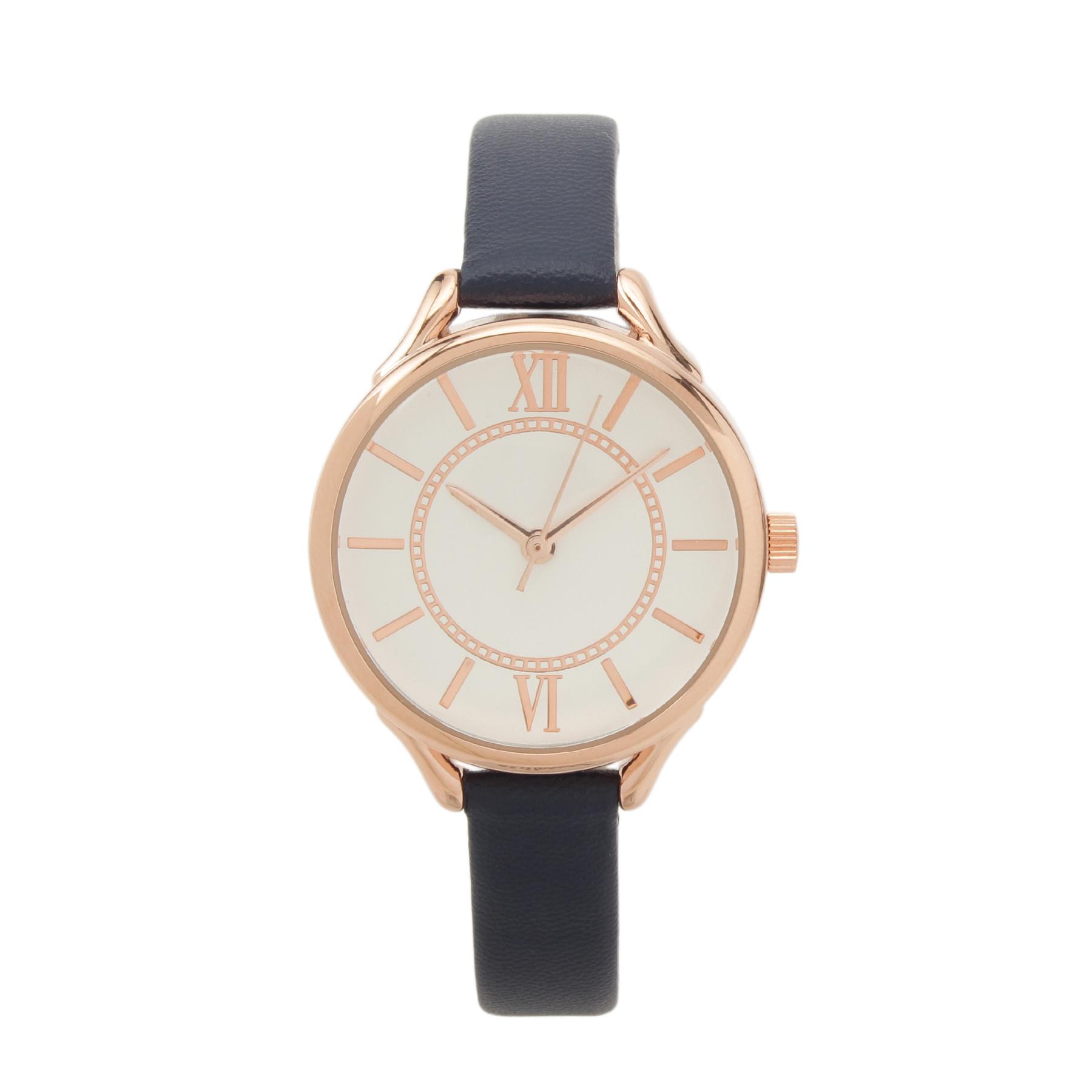 【passage mignon (パサージュ ミニョン)】エレガント腕時計レディース 雑貨|腕時計 ネイビー