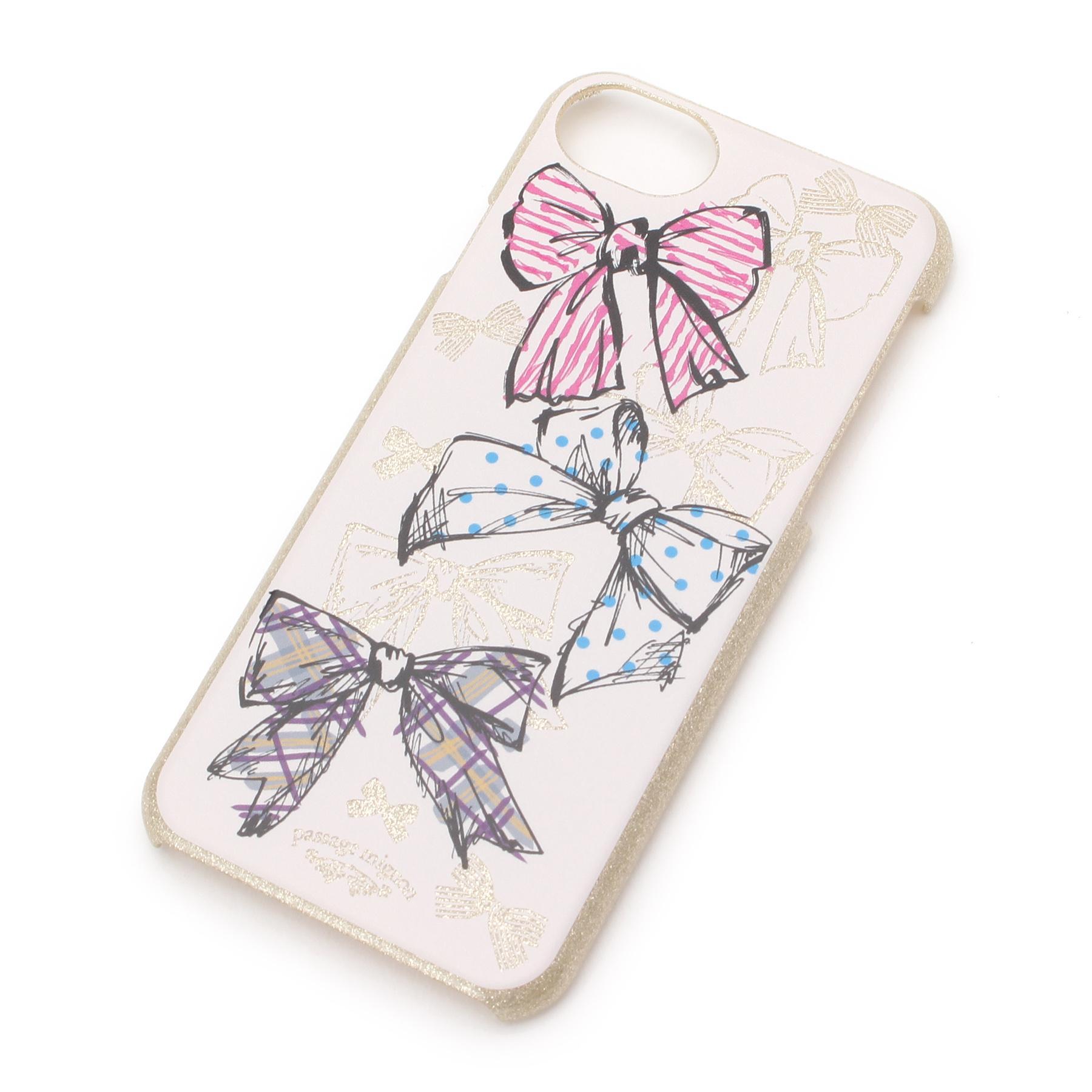 【passage mignon (パサージュ ミニョン)】リボン柄iPhoneケース(iPhone8/7/6s)レディース 雑貨 モバイルケース ピンク系
