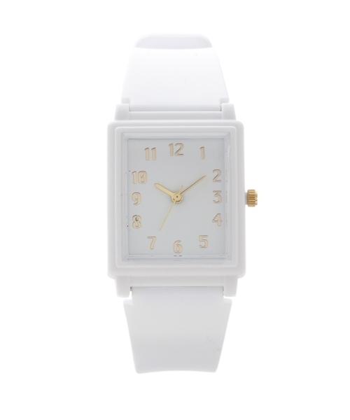 プラスチックベルトスクエア腕時計