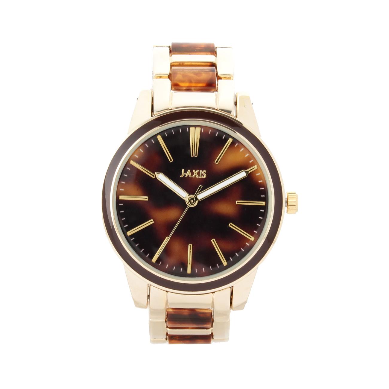【passage mignon (パサージュ ミニョン)】マーブルメタル腕時計レディース 雑貨|腕時計 ダークブラウン