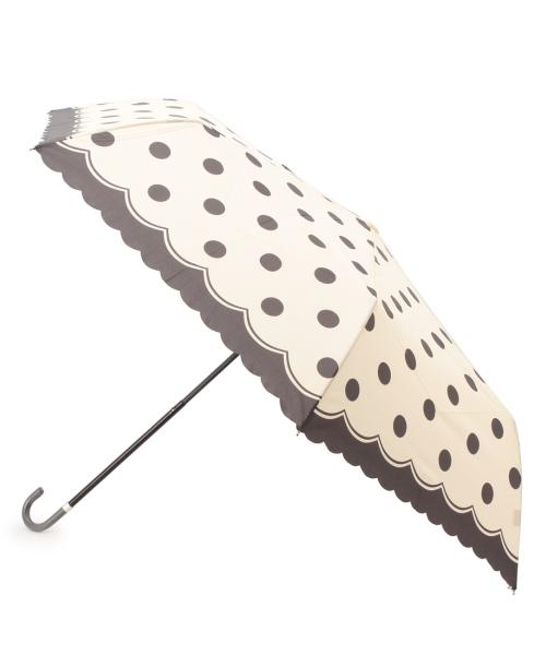 ドットスカラップ折りたたみ傘