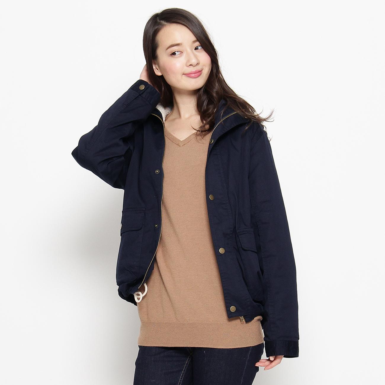 【CorteLargo (コルテラルゴ)】綿ツイルコートレディース コート|モッズ・フィールドコート ブルー