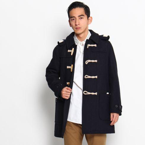 【Dessin(Men) (デッサン)】2WAYメルトンダッフルコートメンズ コート ダッフルコート ネイビー