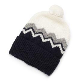 <ワールド> ギザギザラインニット帽