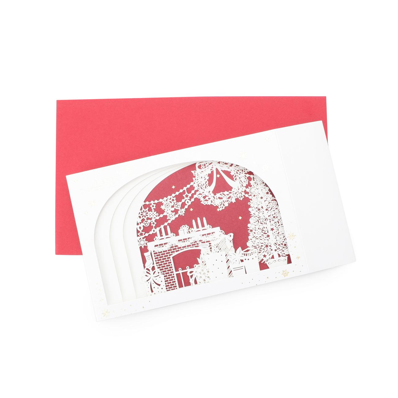 【grove (グローブ)】レーザーカット クリスマスカードレディース その他雑貨|その他雑貨 レッド