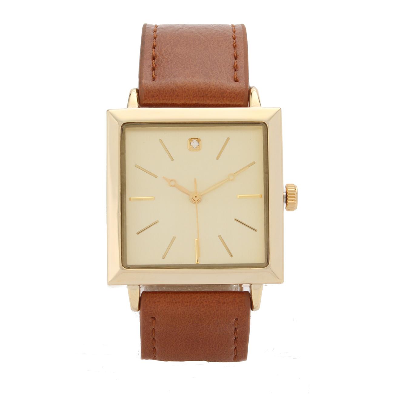 【LOCATION (ロケーション)】スクエアウォッチレディース 雑貨|腕時計 キャメル