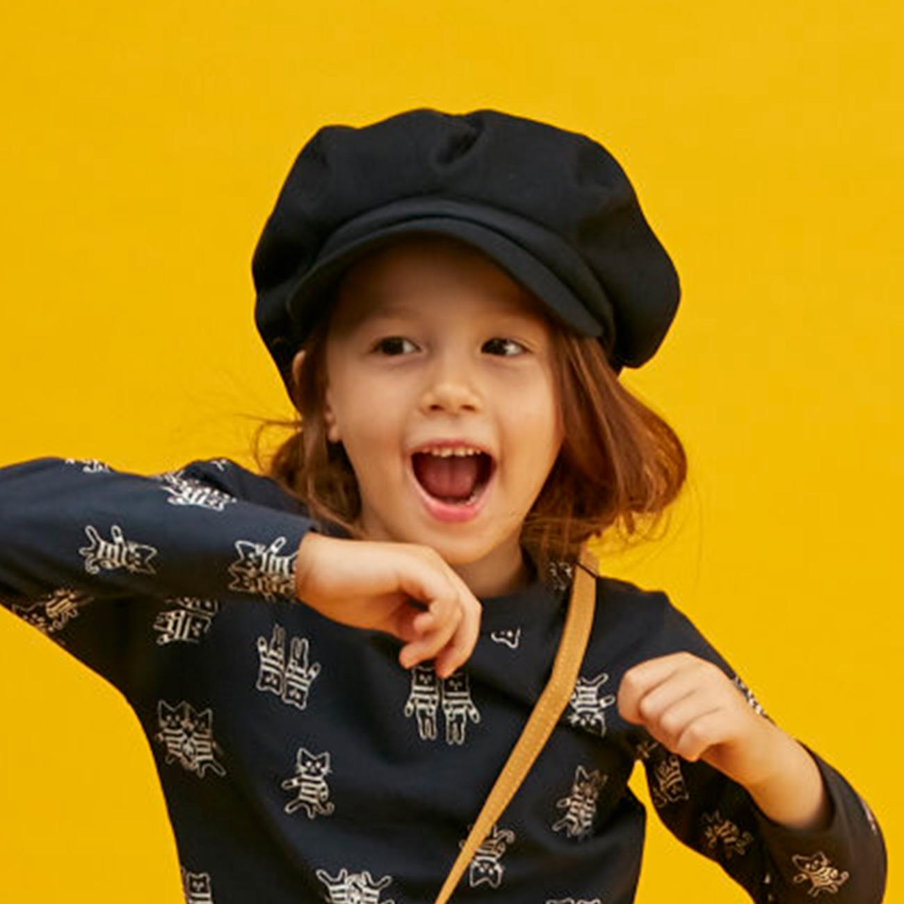 【HusHusH(Kids) (ハッシュアッシュ)】ベーシックキャスケットキッズ 帽子|キャスケット ネイビー