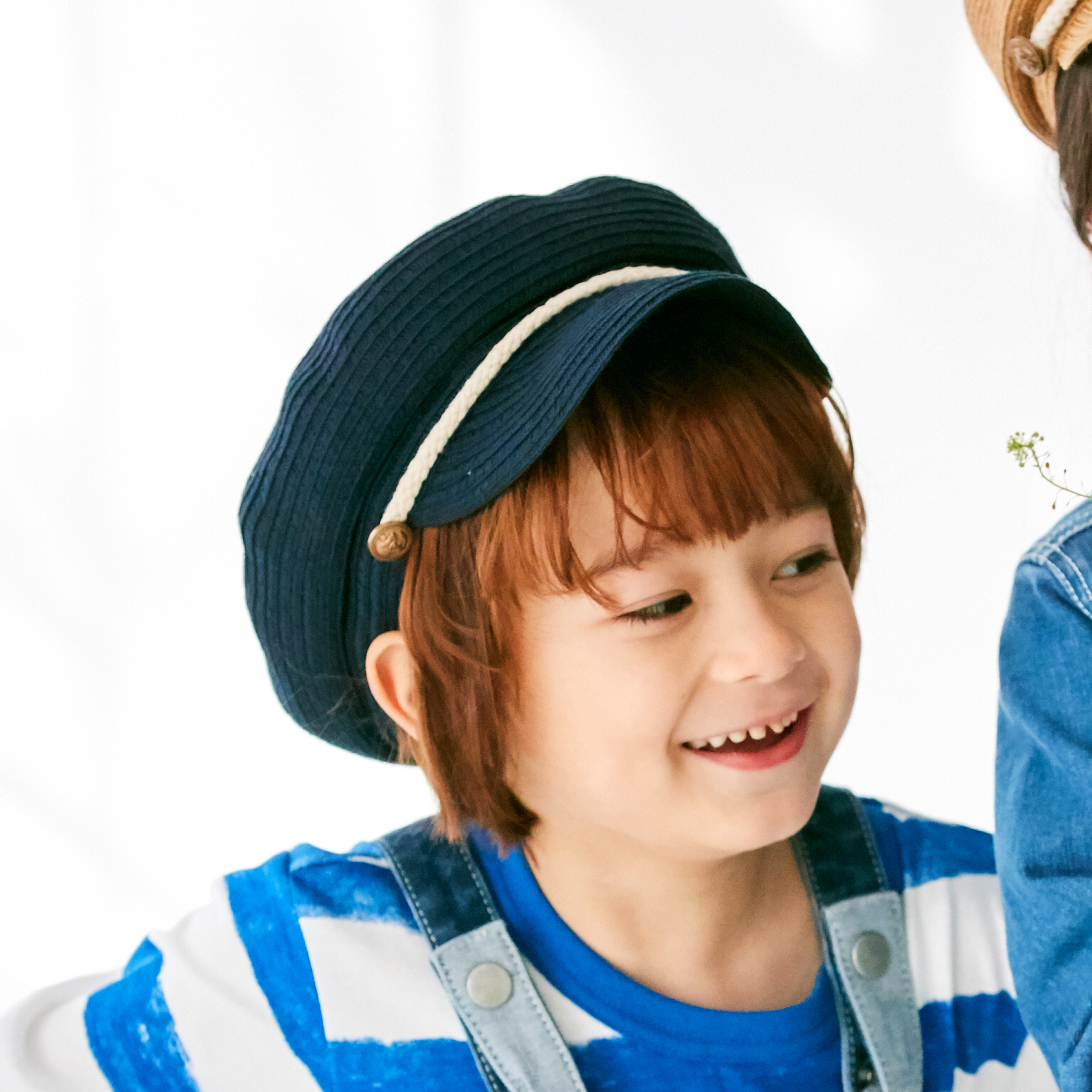 【HusHusH(Kids) (ハッシュアッシュ)】ブレードマリンキャスケットキッズ 帽子 キャスケット ネイビー