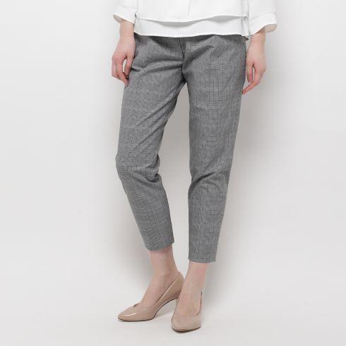 【SOFUOL (ソフール)】グレンチェックパンツレディース パンツ|6~9分丈パンツ ブラック